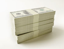 Stack of $100 bills Royalty Free Stock Image