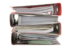 Stack of Binders Stock Photo