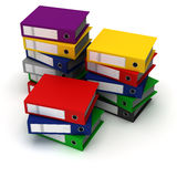 Stack of Binders Stock Photography