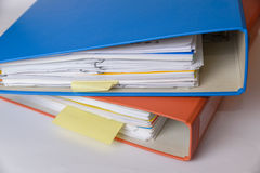 A stack of binders Royalty Free Stock Photo