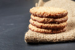 Stack biscuit cookies Royalty Free Stock Photography