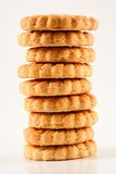 Stack of biscuits Royalty Free Stock Images