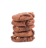 Stack of biscuits with chocolate. Royalty Free Stock Image