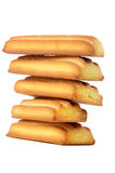 Stack of Biscuits Isolated on White Background Royalty Free Stock Images