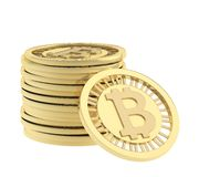 Stack of bitcoin currency coins Royalty Free Stock Photo