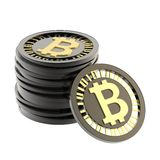Stack of bitcoin currency coins Stock Photography