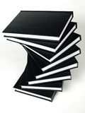 Stack of black books Royalty Free Stock Image