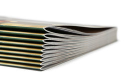 Stack of black covered magazines Royalty Free Stock Photography