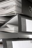Stack of Black File Folders Royalty Free Stock Photography