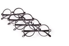 Stack of black glasses Royalty Free Stock Photo