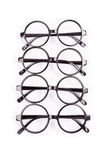 Stack of black glasses Royalty Free Stock Photography