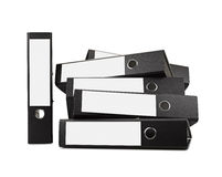 Stack of black office folders Stock Photos
