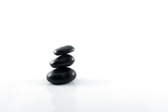 Stack of black pebbles Royalty Free Stock Images