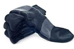 Stack of black socks Royalty Free Stock Photo