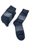 Stack of black socks Royalty Free Stock Photos