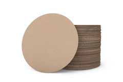 Stack of Blank Beer Coasters Royalty Free Stock Photo