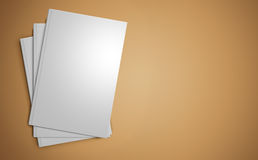 Stack of blank book templates Royalty Free Stock Images