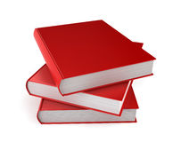 Stack of blank books. 3d illustration on white background Royalty Free Stock Photos