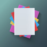 Stack of blank books, top view. Royalty Free Stock Image