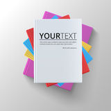 Stack of blank books, top view. Stock Photos