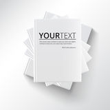 Stack of blank books, top view. Royalty Free Stock Photo