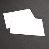 Stack of blank business card on white textured background. With soft shadows. Business card Vector illustration Royalty Free Stock Image