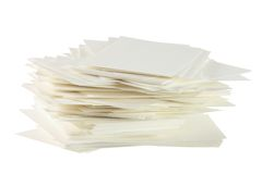 Stack of Blank Cards Royalty Free Stock Images