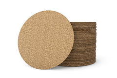 Stack of Blank Cork Beer Coasters Royalty Free Stock Photography