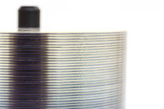 Stack of blank DVD for background Stock Image