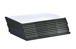 Stack of blank DVD cases  laying down Stock Images