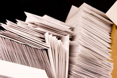 Stack of Blank Envelopes. On a table Stock Image