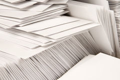 Stack of Blank Envelopes. On a table Royalty Free Stock Photo