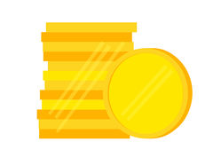 Stack of Blank Golden Coin Stock Photography