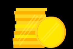 Stack of Blank Golden Coin Royalty Free Stock Images