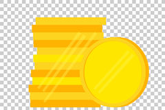 Stack of Blank Golden Coin. Vector Stack of Blank Golden Coin Royalty Free Stock Photography