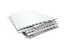 Stack of Blank Magazines Stock Image