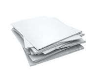 Stack of Blank Magazines Royalty Free Stock Photography