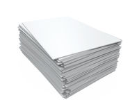 Stack of Blank Magazines Stock Photo
