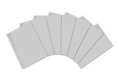 Stack of blank magazines template. On white background with soft shadows. Ready for your design Royalty Free Stock Images