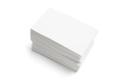 Stack of Blank Name Cards Royalty Free Stock Photography