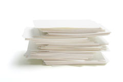 Stack of Blank Name Cards Stock Photo