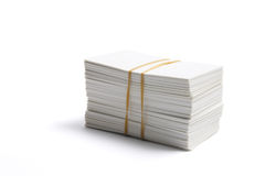 Stack of Blank Name Cards Stock Images