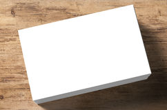 Stack of blank name cards Royalty Free Stock Images