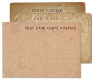 Stack of blank old vintage postcard isolated Stock Photo