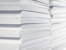 Stack of blank paper Royalty Free Stock Photos