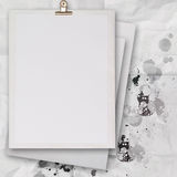 Stack of blank paper book on texture background Royalty Free Stock Image