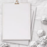 Stack of blank paper book on texture background Stock Photography