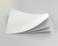 Stack of blank paper sheets. 3d rendering.  Royalty Free Stock Photos