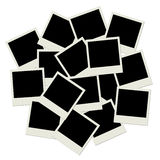 Stack of blank  photo frames Royalty Free Stock Images