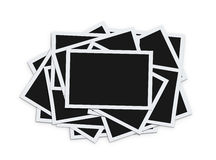 Stack of blank photos Royalty Free Stock Photos